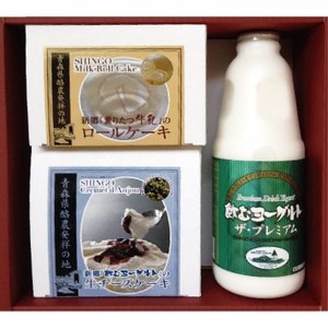 新郷村ふるさと活性化公社 濃厚スイ−ツ+飲むヨーグルトプレミアムセット |yamaharu808
