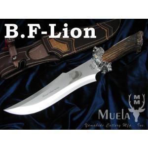 Muela/ムエラ B.F-LION ビッグ・ファイブ・シルバー ライオン 限定150本 ボウイナイ...