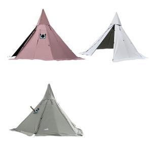 ワンポール テント 3〜4人 薪ストーブ使用可能 冬キャン 煙突穴付き ブッシュ 快適
