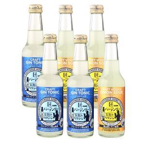 匠バーテンダー家飲みカクテルシリーズのジントニック・ウォッカレモンサワーの6本セット