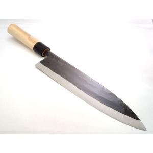 解体用 出刃包丁 240mm 鉄製 両刃|yamakazufishing