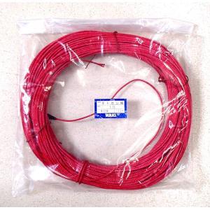 テトロン 3本撚ロープ 3.2mm 赤(樹脂染) 100m 脇漁具|yamakazufishing