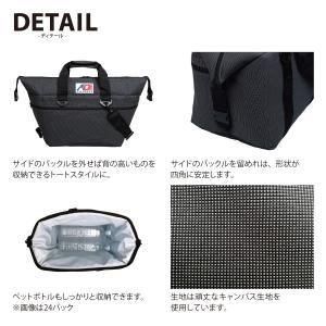 AO Coolers エーオークーラー 24 パック キャンバス ソフトクーラー/ブラック AO24BK クーラーボックス yamakei02 03