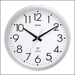 MAG 大型42cm電波壁掛時計ウェーブ420 W-462|yamaki-netshop