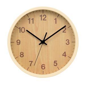 木目調 壁掛け時計 ウォールクロック ライトブラウン|yamaki-netshop