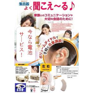 補聴器タイプの集音器 左右兼用耳かけ式...