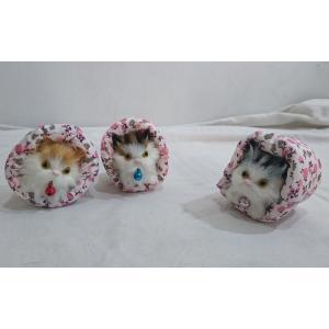 ゴロゴロにゃんこ ネコの置物 3匹セット|yamaki-netshop