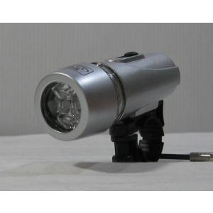 LED 自転車ライト サイクルライト 5灯 シルバー|yamaki-netshop