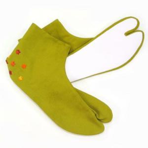 足袋 紅葉 かかと刺繍 柄足袋|yamaki