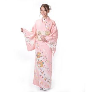訪問着 正絹 仕立て上がり Osikiri Moe 着物 単品 ピンク 結婚式 入学式 入園式 卒業式 卒園式 yamaki