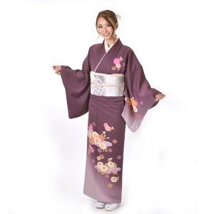 訪問着 正絹 仕立て上がり Osikiri Moe 着物 単品 紫 結婚式 入学式 入園式 卒業式 卒園式 yamaki