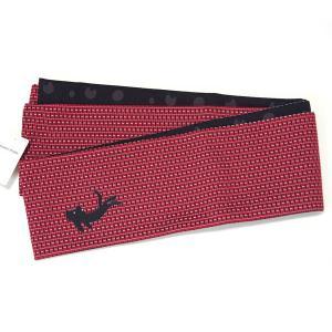 半幅帯 レディース リバーシブル tumori chisato ツモリチサト 日本製 オールシーズン ポリエステル 猫 赤×黒 yamaki