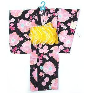 子供浴衣 女の子 120cm 7〜8才 2点セット 日本の染め|yamaki