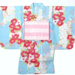 子供浴衣 女の子 100cm 3〜4才 2点セット|yamaki