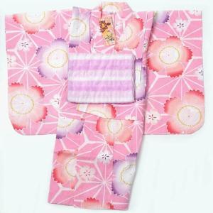 子供浴衣 女の子 110cm 5〜6才 2点セット|yamaki