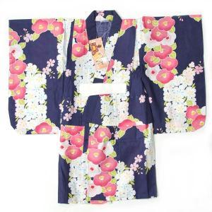 子供浴衣 3〜4才 100cm  女の子 子供用浴衣 単品になります。 ゆかたは、綿100%の変わり...