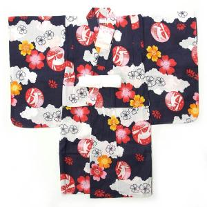 ViViSienne 女の子 子供用浴衣 単品になります。 ゆかたは、綿100%の変わり織りの生地に...