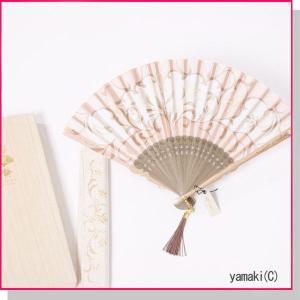 扇子 正絹 竹扇子・ケース付セット ローズ華 刺繍デザイン 桐箱入り|yamaki