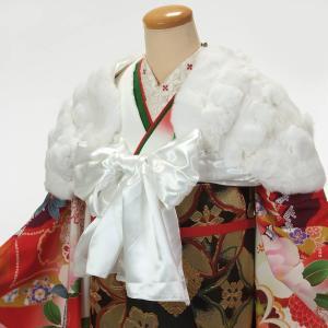 ショール 成人式 振袖 ドレス ストール サテンリボン ラビットファー 白|yamaki