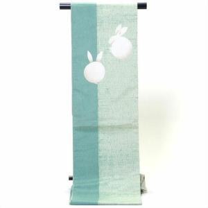 袋帯 正絹 大島紬兎柄|yamaki