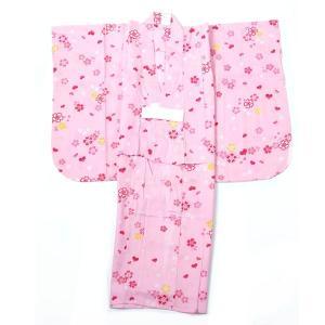 子供浴衣 女の子 110cm 5〜6才 単品 アウトレット 少々難あり|yamaki