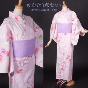 浴衣 レディース ゆかた 本格仕立の浴衣3点セット|yamaki