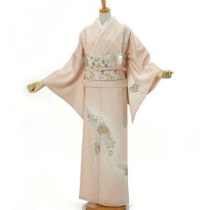 訪問着 正絹 お仕立て上がり 単品 Mサイズ 着物 ピンク 結婚式 入学式 入園式 卒業式 卒園式 yamaki