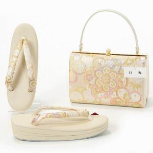 草履バッグセット 白梅 振袖 成人式 訪問着 礼装 日本製 Lサイズ yamaki