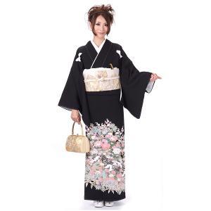 黒留袖  お仕立上がり 正絹着物 紋入れ前商品 紋入れ代込 結婚式 yamaki