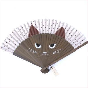 扇子 女性用 猫 竹センス|yamaki