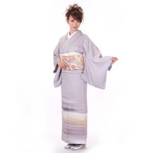 訪問着 正絹 仕立て上がり パールトーン加工済 着物 単品 紫 結婚式 入学式 入園式 卒業式 卒園式 yamaki
