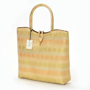 和装バッグ 金襴バッグ 礼装 フォーマル 着物バッグ 大きめ サブバッグ 和柄 ゴールド|yamaki