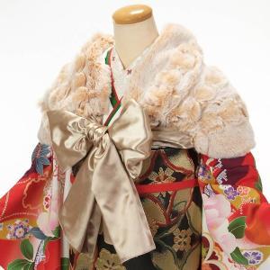着物 ショール 成人式 振袖 サテンリボン ショール 日本製|yamaki