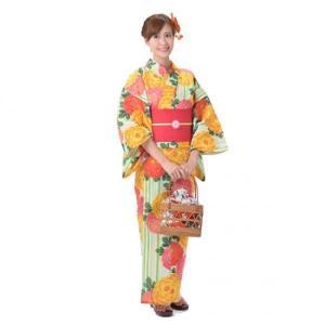 ゆかた 女性 3点セット 玉城ティナ×キスミス 生成り地に菊|yamaki