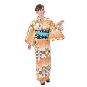 ゆかた 女性 単品 tsumori chisato ツモリチサト ねこ柄 下駄・竹のうちわプレゼント中|yamaki
