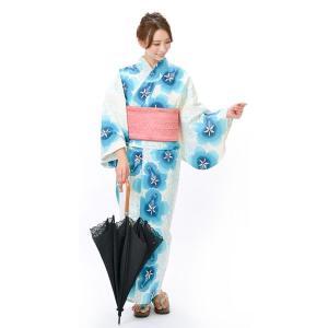 そしてゆめ浴衣+そしてゆめ半巾帯+下駄 3点セット レディースゆかた|yamaki