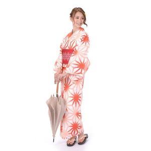 ゆかた 女性 3点セット hiromichi nakano 吸水速乾 白地に麻の葉|yamaki