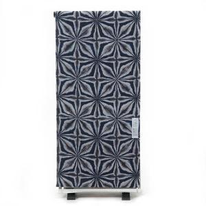 浴衣 反物 紳士 ViVi 未仕立て品 日本製 綿 変わり織り 型染め 紺×グレー オプションでお仕立て承ります yamaki
