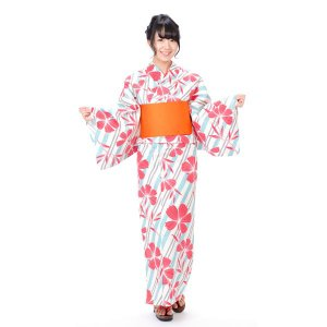 浴衣 レディース キスミス 3点セット 綿  フリーサイズ|yamaki