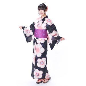 浴衣 レディース レトロ 九重×中村里砂 3点セット 綿 麻 フリーサイズ|yamaki