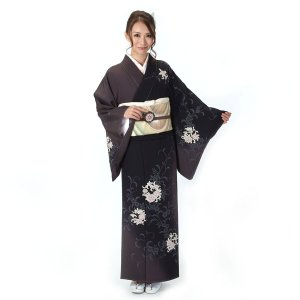 訪問着 正絹 仕立て上がり 着物 単品 濃茶 結婚式 入学式 入園式 卒業式 卒園式 yamaki