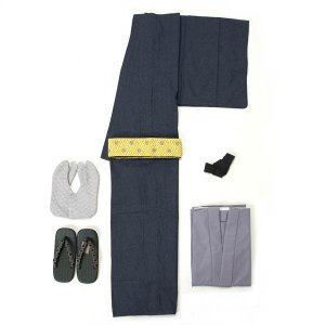 男着物 6点セット オンライン着方レッスンサポート付き LLサイズ 紳士 メンズ デニム 単衣 和人 カジュアル インディゴ 紺 yamaki