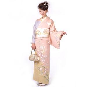 訪問着 正絹 仕立て上がり 着物 単品 ピンク 結婚式 入学式 入園式 卒業式 卒園式 yamaki