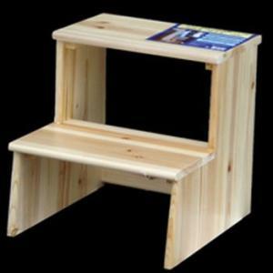 IPC 木製塗装踏み台 2段 W415*D465*H410|yamakishi