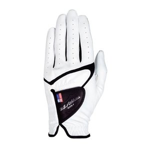 LEZAX(レザックス) U.S.Athlete USGL-5656 羊革×合成皮革手袋 ゴルフグローブ 左手用 WH(ホワイト)・S|yamakishi
