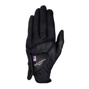 LEZAX(レザックス) U.S.Athlete USGL-5656 羊革×合成皮革手袋 ゴルフグローブ 左手用 BK(ブラック)・S|yamakishi
