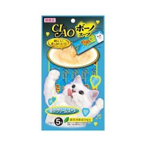 いなば CIAO ボーノスープ 魚介クリームスープ (キャットフード・猫のエサ) 17g×5本