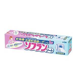 ライオン 乾燥機用ソフラン シートタイプ 25枚入|yamakishi