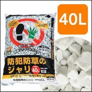 【1回の注文につき10個まで】 アイリスオーヤマ 防犯防草のジャリ 40L ホワイト 40L|yamakishi