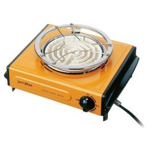 マクセルイズミ 電気コンロ オレンジ IEC-105-D
